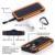 Banco Do Poder Solar portátil Dual USB Power Bank 20000 mAh powerbank bateria externa à prova d' água Painel Solar Portátil com luz LED