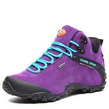 Новые женщины кроссовки водонепроницаемый открытый кроссовки Высокий верх поход сапоги отдыха спорта беговые фиолетовый обувь botas mujer