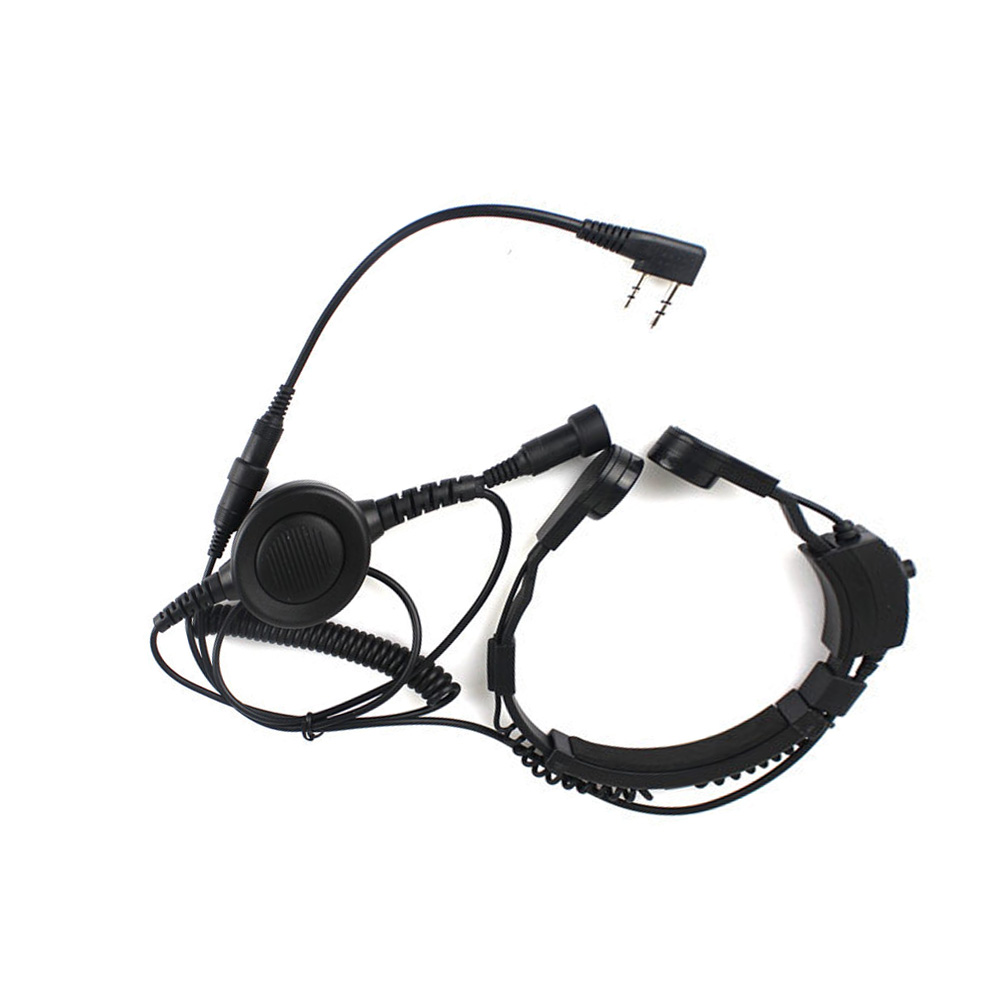 New 2 Pin Heavy Duty PTT Throat OR Forehead Vibration MIC for KENWOOD PUXING HYT TYT BAOFENG UV 5R BF 888S Ham Radio Earpiece