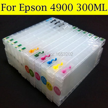 High Volume refillable ink cartridges with auto reset chip for Epson 4900 printer