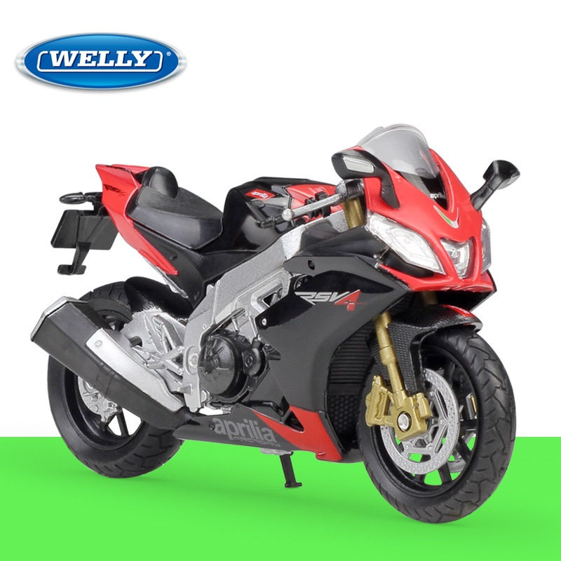 1:18 Welly Aprilia RSV4 Factory Alloy Diecast Motorcycle