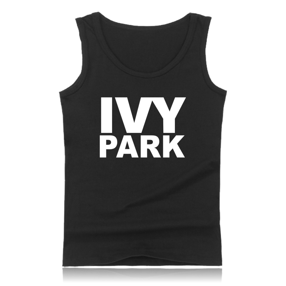 Beyonce Letter Print IVY Park Theme   Tank     Top   Men Stretchy Sleeveless Shirt Black Casual Fashion bodybuilding Fitness Clothing