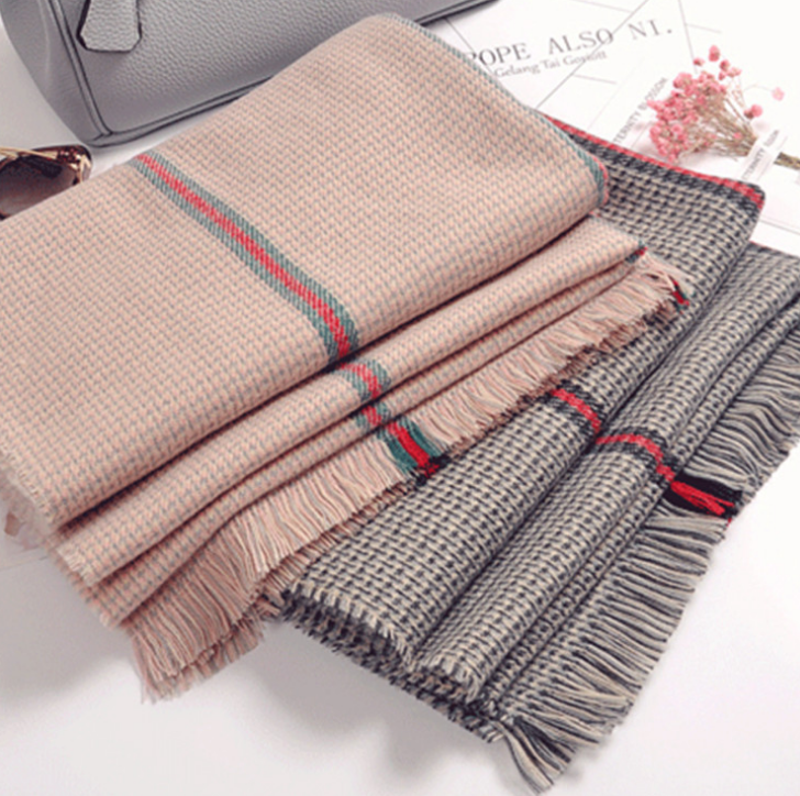 Winter Swallow gird Plaid ribbon   scarf     wraps   Imitation Cashmere pashmina women scarfs thick Dual shawl hijab poncho for ladies