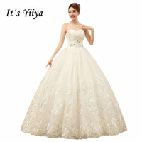 To Yiiya Tanie Biała Księżniczka Sukienki Vestidos De Novia Cekiny Bez Ramiączek Koronki Ślubne Suknie Ślubne Bride Sukienki XXN085