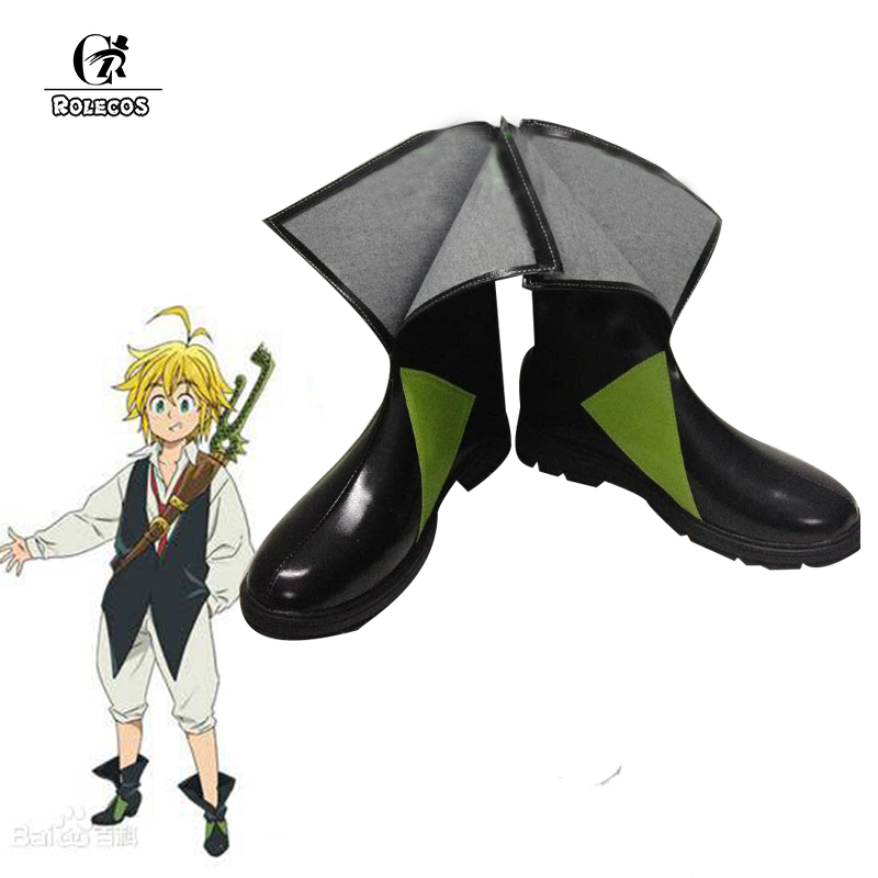 ROLECOS The Seven Deadly Sins Cosplay Shoes Meliodas Cosplay Boots Revival of the Commandments Anime Cosplay Accessories Man