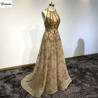 Surmount Best Selling A Line Long Pink Evening Dress Lace Pleat V Neck Prom Dresses Elegant