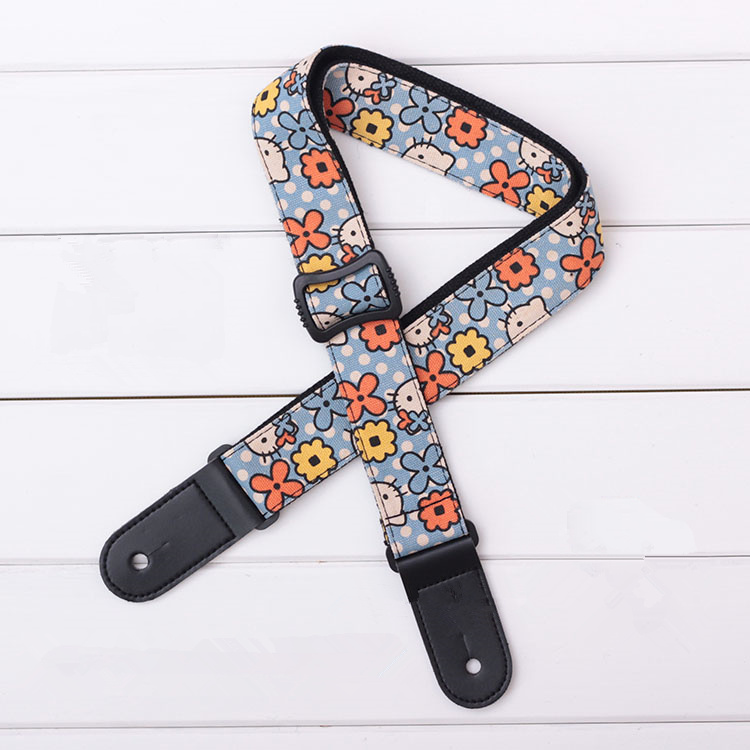 Widen Thicken Neck Ukulele Dedicated Ukulele Shoulder Strap Guitar Guitarra Hook Accessories Parts Personalized Cartoon