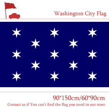 Free shipping Washington City Flag Of USA New York State 3x5ft 90*150cm 60*90cm Custom 100d Polyester Banners
