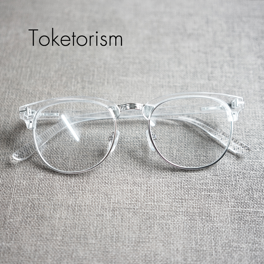 ΞToketorism diseñador personalizada manera marco transparente gafas ...