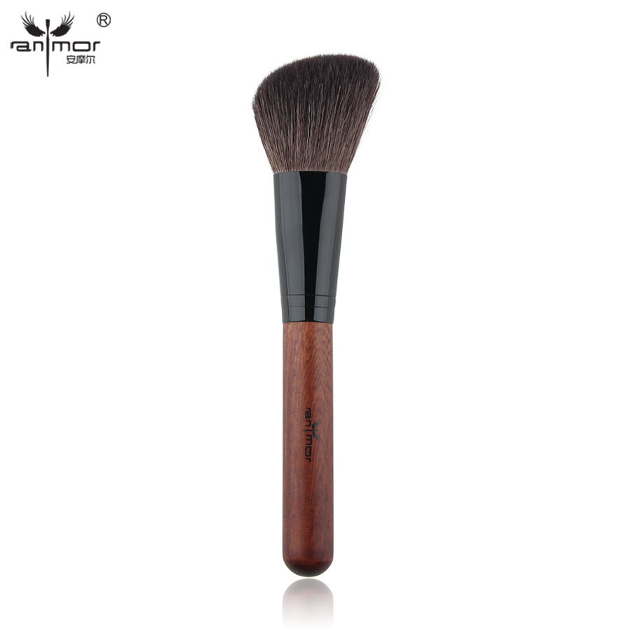 Anmor Brand High Quality Blush Brush Professional Makeup Brushes Goat Hair Make Up Brush D006 anmor eyelash comb brush high quality eyebrow makeup brushes for daily or professional make up