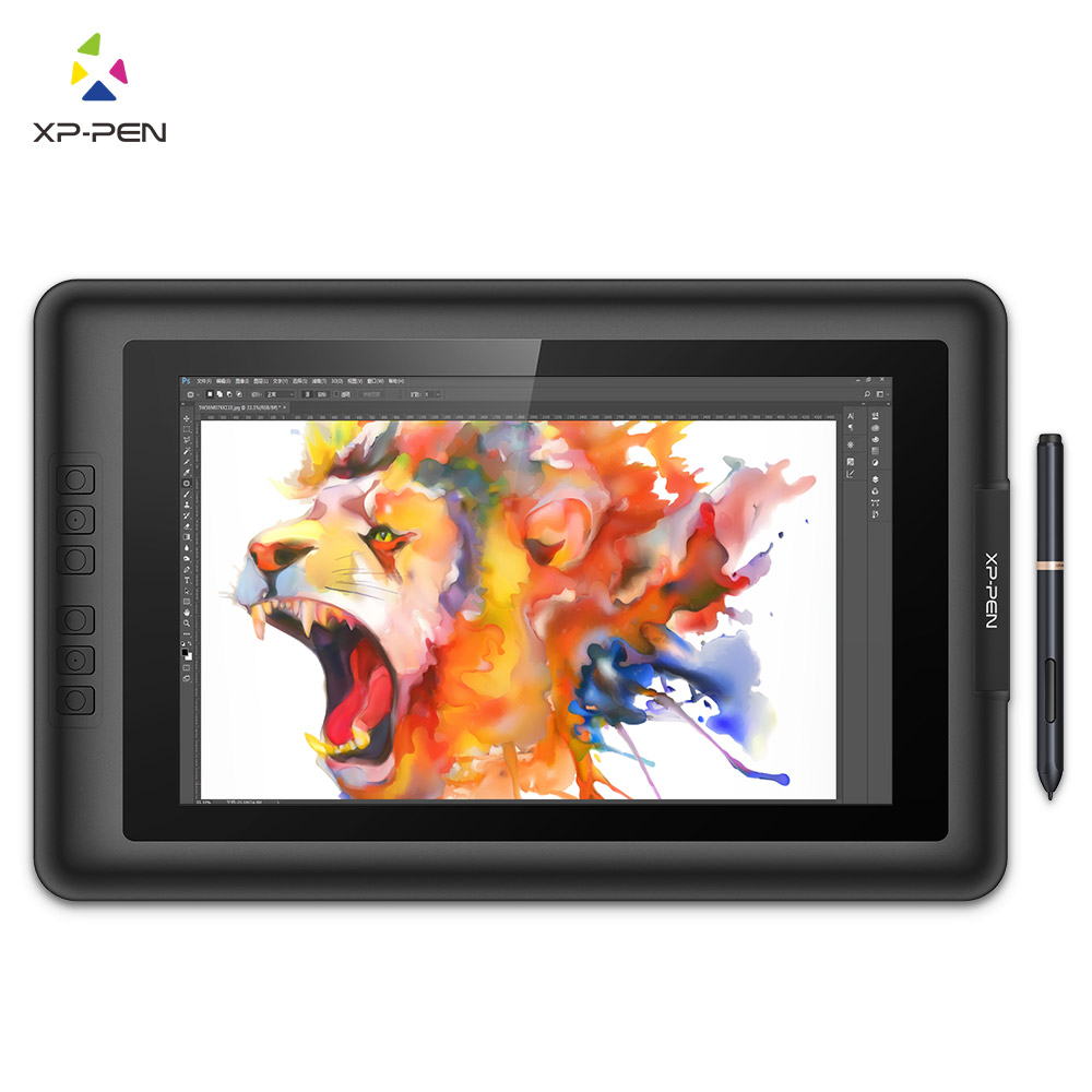 XP-Pen Artist13.3 IPS 13.3 Drawing Pen Display Graphics Drawing Monitor with Battery-free Passive Stylus bosto kingtee 22hdx 22 full hd ips panel with battery free pen have eraser function on pen with 20 pcs express key
