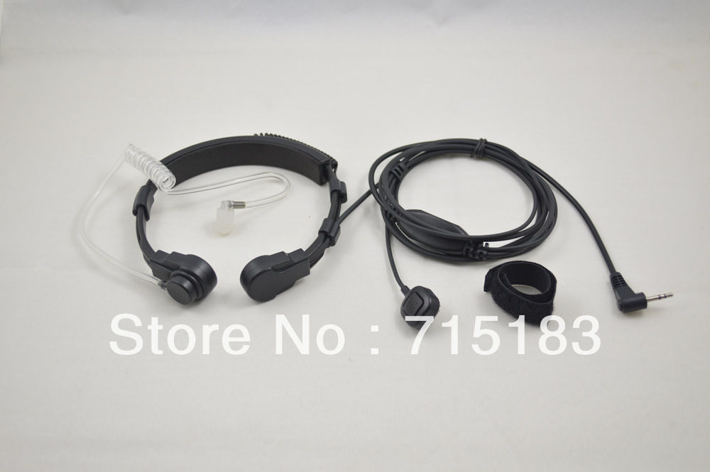 Freeship air tube headset 2.5mm 13mm M2/MT Connector VOX Heavy Duty Throat MIC with Finger PTT for Motorola T5 cb portable radio