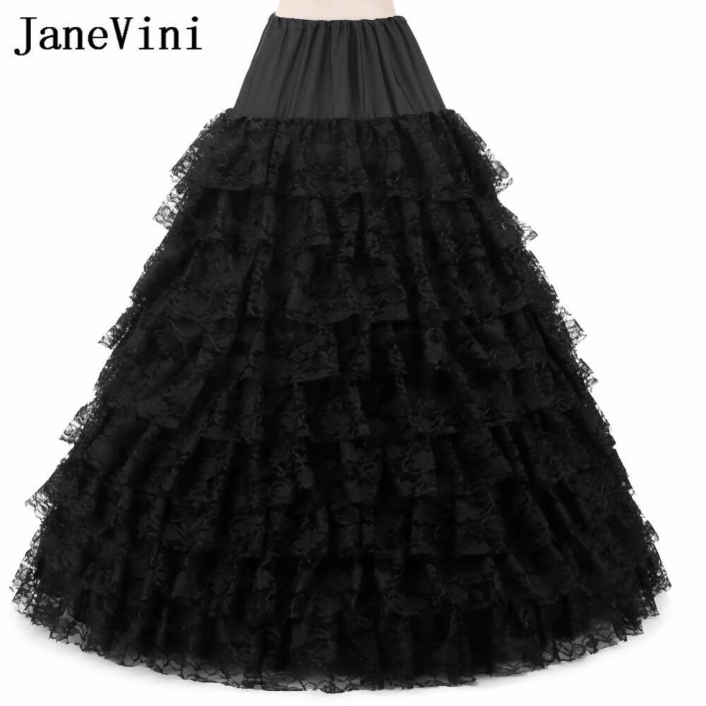 Petticoats Back To Search Resultsweddings & Events Enaguas Para El Vestido De Boda 5 Layers Ball Gown Petticoats White/red/black Big Ruffle Wedding Accessories Petticoat