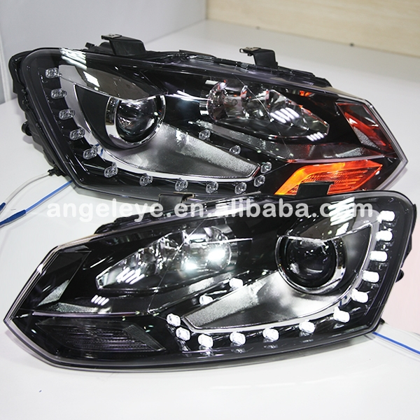 For VOLKSWAGEN Polo LED Head Lamp with DRL Daytime Running Light 2010-2014 year DL шины good year 195 55r15 85v nct5 polo