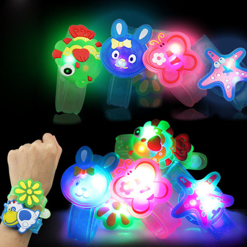 2018 Multicolor Light Flash Toys Wrist Hand Take Dance Party  High Quality Dinner Party Gift For Kid Random LED ColorLamps Light Karachi