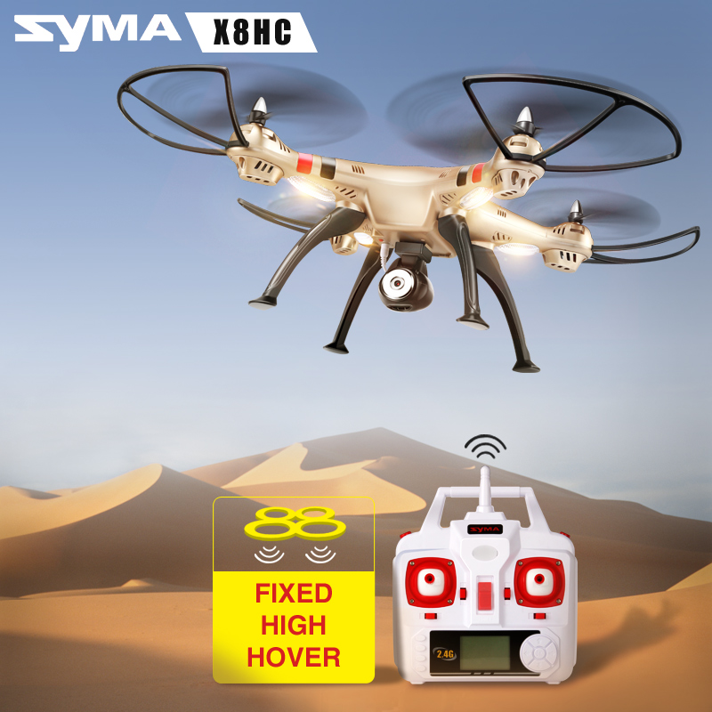 цена на Newest Syma Drone X8HC Dron with 2MP HD Camera 2.4G 4CH 6Axis RC Helicopter Hovering Quadcopter RTF Quadrocopter Shock Resistant