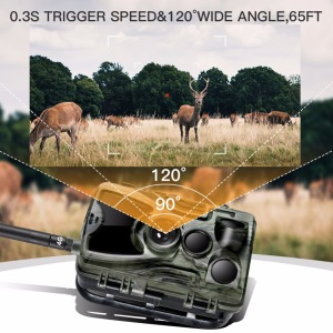 Image 3 - Goujxcy HC801LTE 4G MMS/SMS/SMTP/FTP Hunting trail camera 16MP 64GB night camera 0.3s Trigger wild camera photo traps for animal