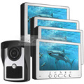 DIYSECUR 7 inch Video Door Phone Doorbell Video Intercom Waterproof Outdoor IR Night Vision Camera Home Security System 1 V 4
