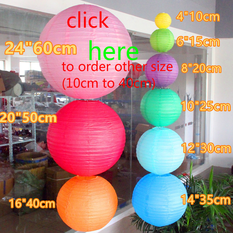 20pcs lot 20 24 50cm 60cm paper lanterns for birthday party wedding Grand Event decoration chinese
