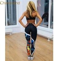 2017 Nouveau Durable chaude leggings Fitness Workout Femmes Printted Maigre Fitness Pantalon Extensible Leggings