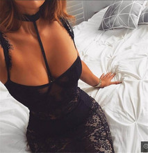 2018 Unique Tight Party Dress Summer New Arrival Black Lace Sleeveless Mini Sexy Club Dressses
