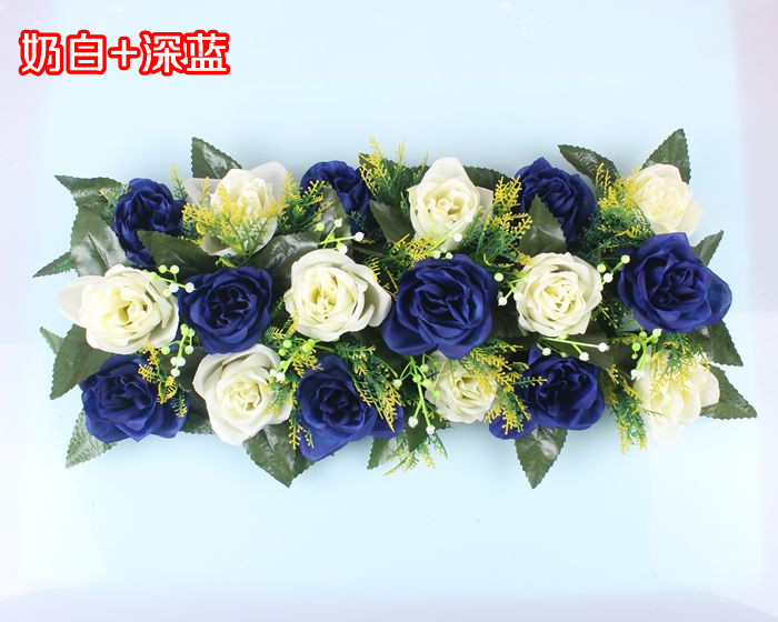 Свадебная композиция Свадебные Искусственные Свадебные шелковые розы арки цветочное свадебное украшение ряд цветов рамка с цветами 10 шт./партия - Цвет: FD11