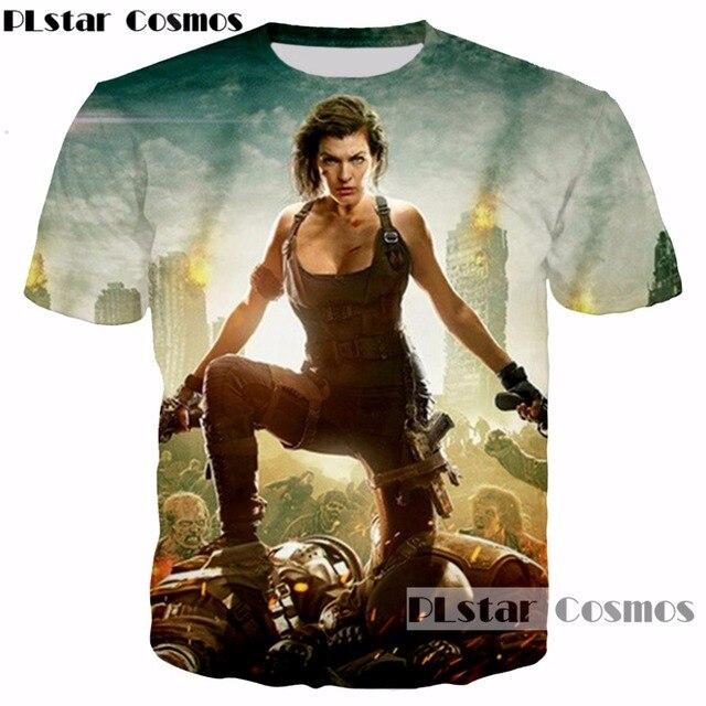 Plstar Cosmos marca ropa horror película Resident Evil Alice 3D imprimir  hombres mujer Cool t 8042d428865