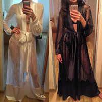 Ladies Sexy Night Dress Long Sleeve Nightgown Nightdress Lace Sleepwear Nightwear For Women