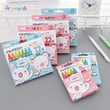 Arsmundi Creative New Rabbit Pig 8 Colors 12 Colors Non-Toxic Crayon Oil Painting Stick Kids Student Pastel Pencils for Drawing цена