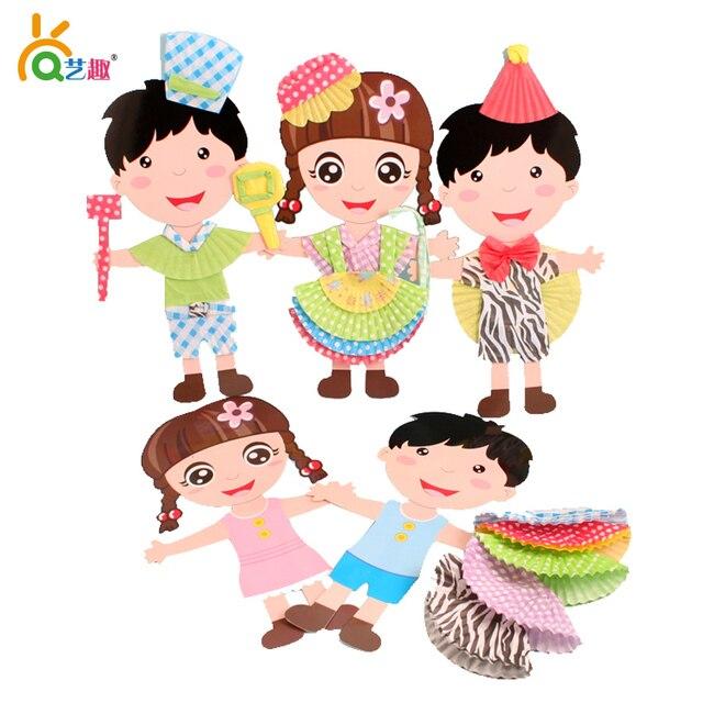 Toys For Boys Kindergarten : Aliexpress buy pcs children handmade color paper