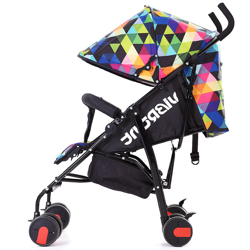 цена Poussette pliante Portable umbrella stroller lightweight folding stroller can sit or lie folding baby stroller children prams