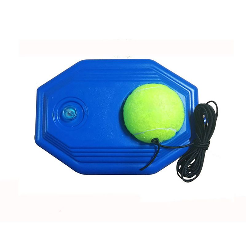 Tennis Ball Training Device Self-study Baseboard Player Training Aids Practice Tool Supply With Elastic Rope Base
