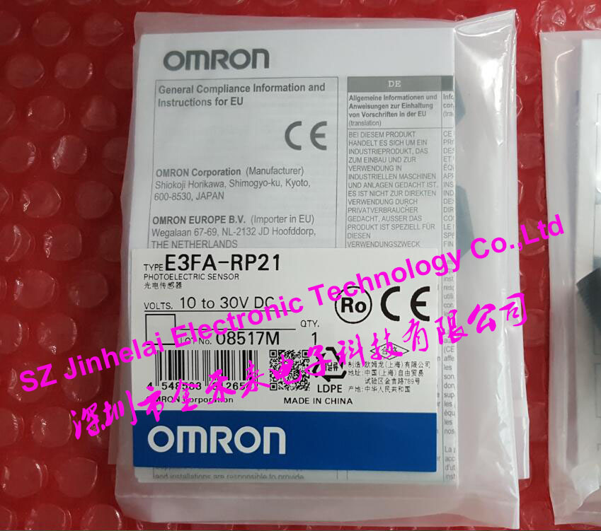 E3FA-RP21  New and original  OMRON Photoelectric sensor  10-30VDC 100% new and original fotek photoelectric switch a3g 4mx mr 1 free power photo sensor