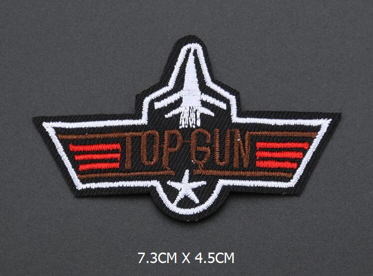 5pc military Set quot top gun quot eagle embroidered patches for clothing costume army logo sew iron on clothes badge motif appliques in Patches from Home amp Garden