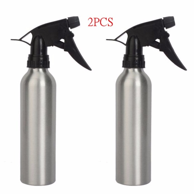 2pcs Aluminum 8oz Silver Spray Water Bottle For Tattoo Accessories Supply TA-106S