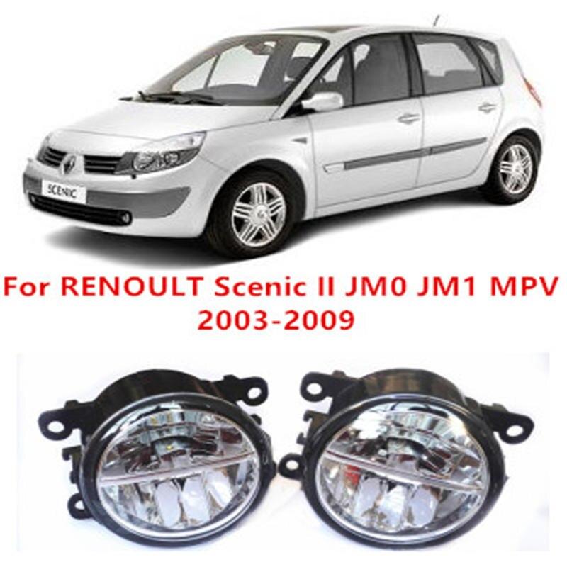ФОТО For RENOULT Scenic II JM0 JM1 MPV  2003-2009 10W Fog Light LED DRL Daytime Running Lights Car Styling lamps