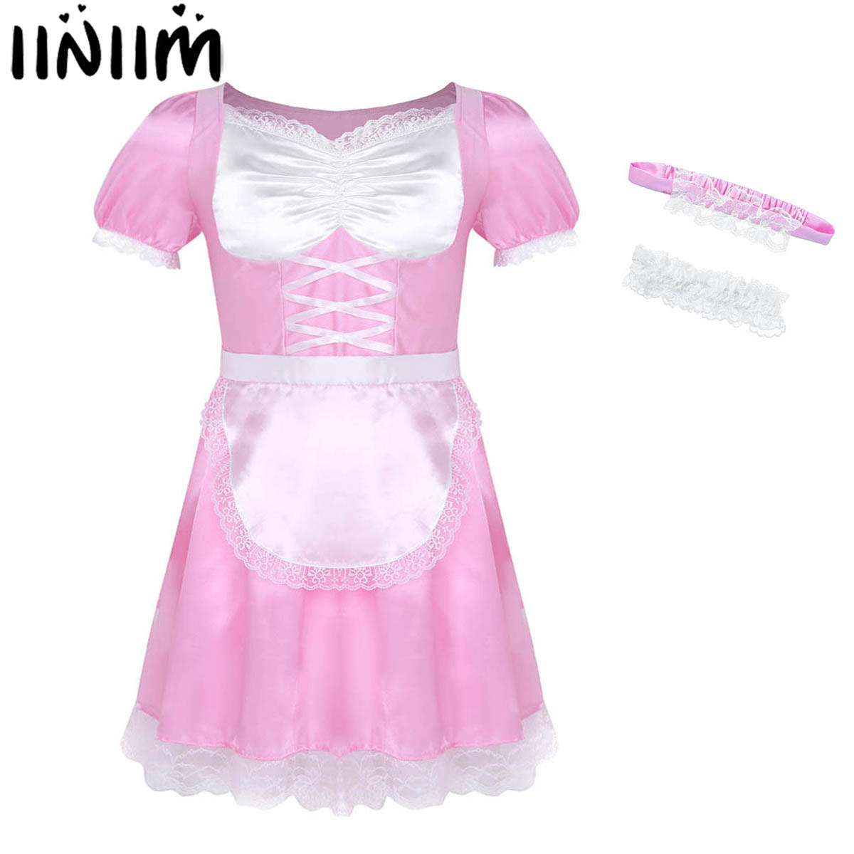 TV,SISSY LOLITA FRILLY COSPLAY ADULT BABY SATIN DELUX RUFFLE KNICKERS