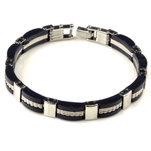 High Quality 316L Stainless Steel Wristbands Bracelet With Silicone Punk Men Bracelets Fashion Charm Jewelry 9 Styles