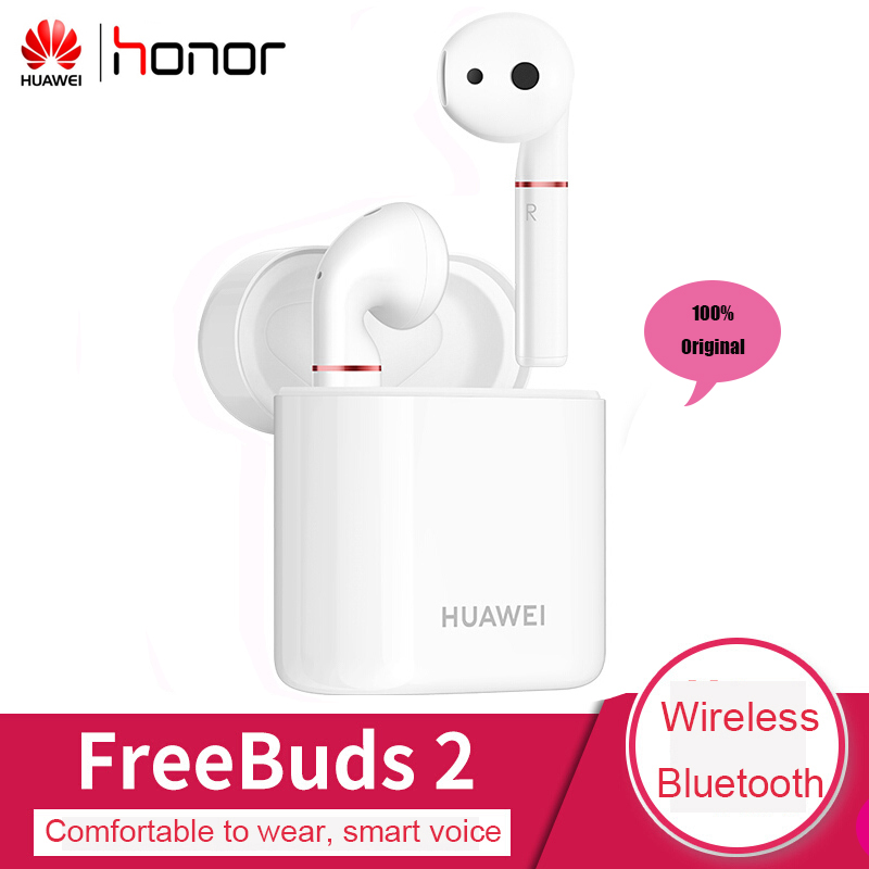 Huawei freebud 2 100% Original Bluetooth écouteur sans fil pour Huawei Honor téléphone demi-in-ear casques avec Micrphones