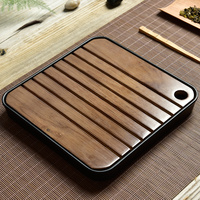 High Grade Imitation Ceramics Wooden Tea Tray Drainage Water Storage KungFu Tea Set Board Table Chinese