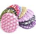 Hot Bonito Ballet Bun Capa Baixada Rede de Cabelo Dança Patinação Crochet com Diamante