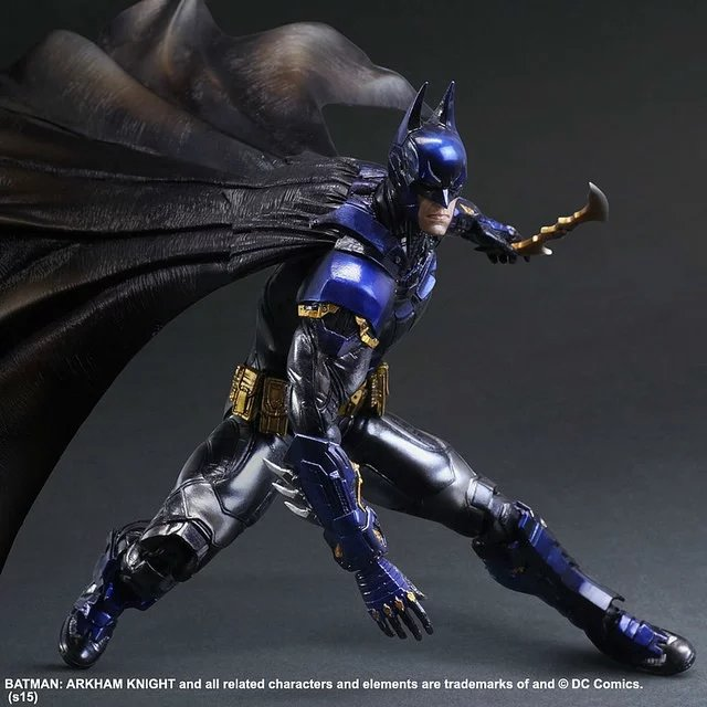 ФОТО Playarts KAI Batman Arkham Knight Batman Blue Limited Ver.  PVC Action Figure Collectible Model Toy 28cm KT2143