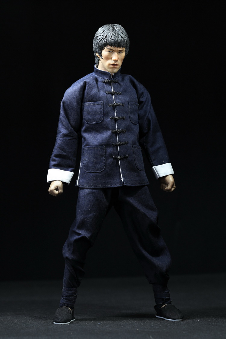 ФОТО 1:6 Scale male Figure Accessory clothes Bruce Lee kung fu suit+shoes for 12