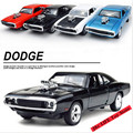 New Hot Sell1:32 Fast & Furious Dodge Alloy Diecast Car Model Pull Back Toy Cars Electronic Car with light&sound Kids Toys Gifts