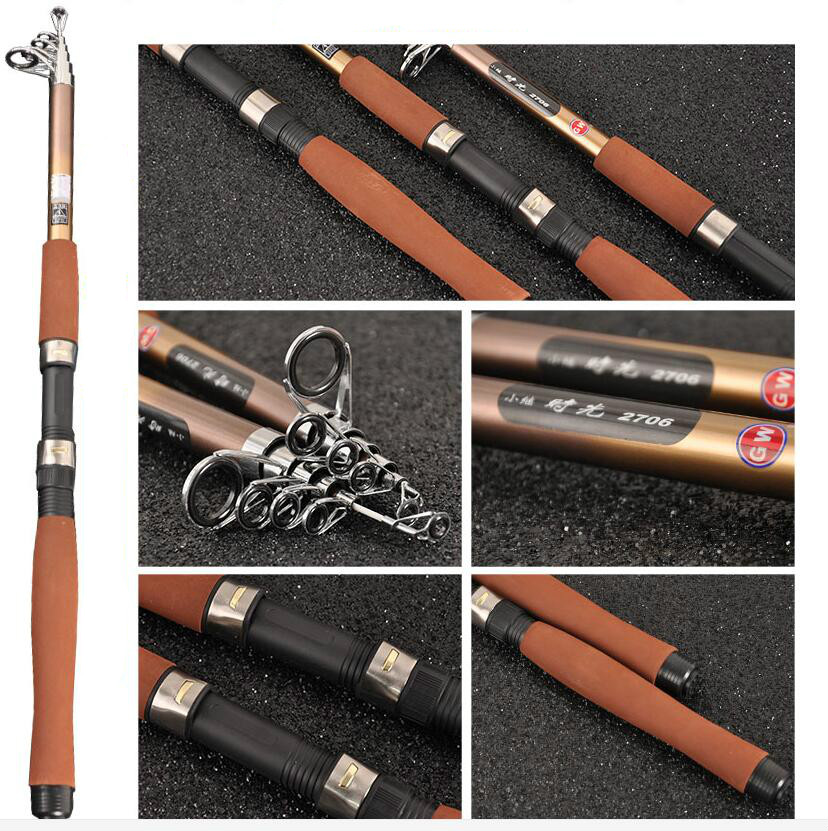 2.4/2.7/3.0/3.6m Super Hard XH Power Carbon Rock Fishing Rod Sea Rod Telescopic  Spinning Rod Lure super hard strong 2 1 2 4 2 7 3 0 3 6m power xh carbon telescopic fishing rod