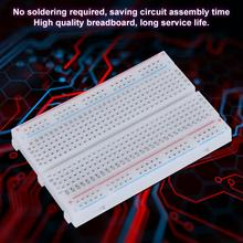цена на 1PCS Universal Breadboard 400 Tie-Points Solderless PCB Bread Board Test Develop DIY kit for arduino