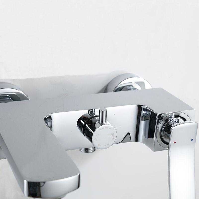 NEW Shower Faucet Set Bathroom water Faucet Chrome Finish Mixer Tap ...