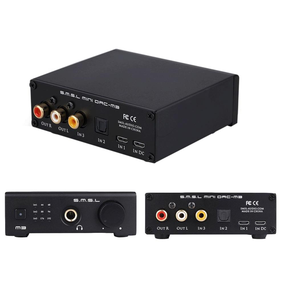 Top affaire SMSL M3 USB alimenté Audio décodeur AMP multi-fonction optique Coaxial casque amplificateur Audio décodeur DAC convètre