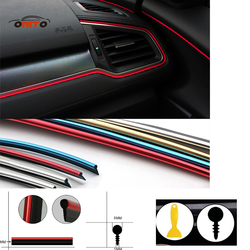 5 meter car moulding strip pvc decorative tape auto dash panel trim strip a1 a2 a3 a4 a5 a6 a7. Black Bedroom Furniture Sets. Home Design Ideas