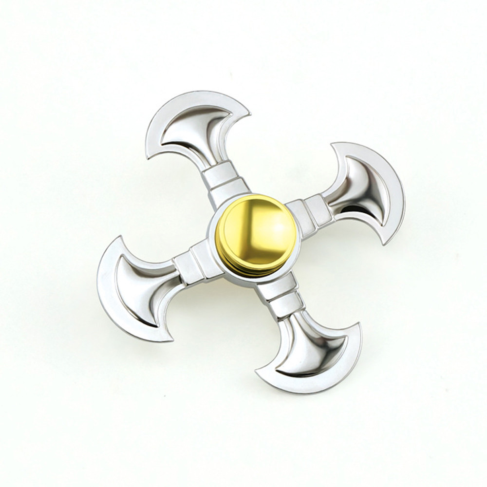 Rainbow Colorful Zinc Tri Spinner Figet Spinners Tri Spinner Fidget Toy Plastic EDC Hand Spinner Desk